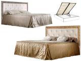 Кровать 2-х спальная (1.8 м) с мяг.эл. со стразами с под/мех