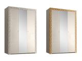 Шкаф 3-х дв. для платья и белья (с зеркалом)