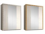 Шкаф 4-х дв. для платья и белья (с зеркалами)