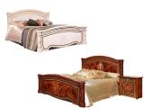 Кровать 2-х спальная 1600 (2 спинки шелкография) с под/мех