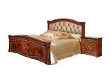 Кровать 2-х спальная 1600 (2 спинки + мягкий эл.) с под/мех