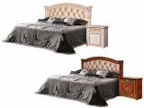 Кровать 2-х спальная (1,6 м) (1 спинка + мягкий эл.) с под/мех