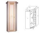 Шкаф угловой для платья и белья