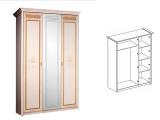 Шкаф 3-х дв. (с зеркалом) для платья и белья