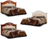 Кровать 2-х спальная (1,6 м) (Delia) с одной мягкой спинкой б/о