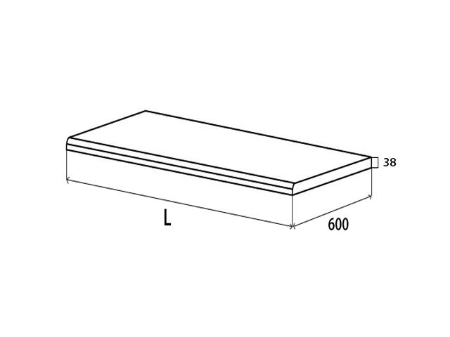 Столешница постформинг Н38 L2000