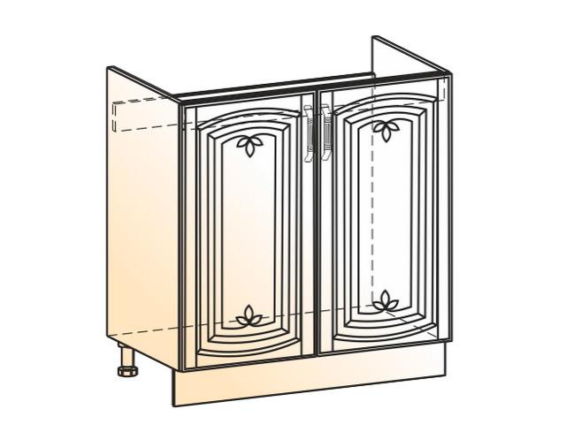 Шкаф рабочий под мойку L800 (2 дв. гл.)
