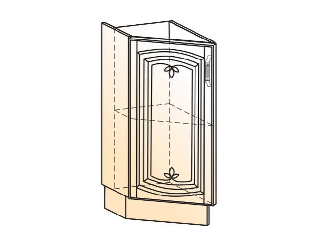 Шкаф рабочий концевой 45 гр. L300 (1 дв. гл.)