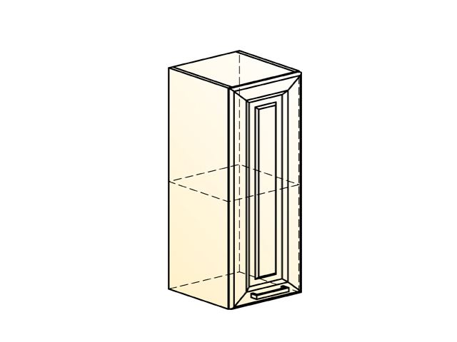 Шкаф навесной L300 Н720 (1 дв. гл.)
