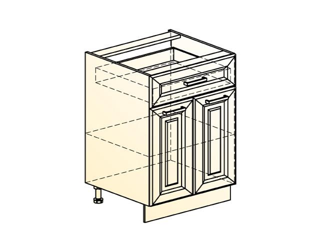 Шкаф рабочий L600 (2 дв. гл. 1 ящ.)