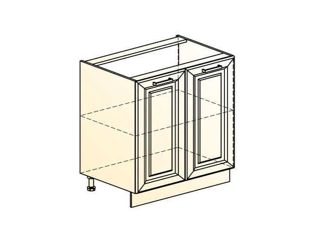 Шкаф рабочий L800 (2 дв. гл.)