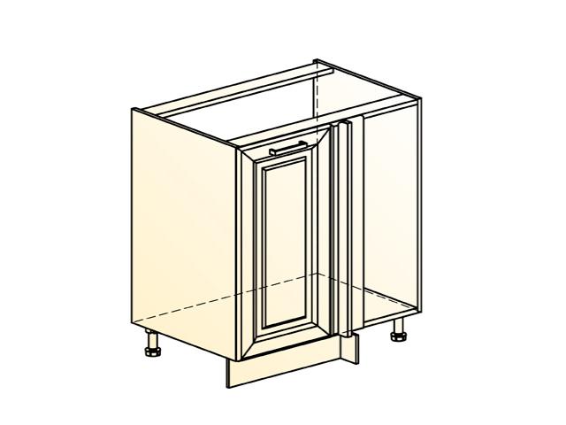 Шкаф рабочий под мойку угл. L1000(800) (1 дв. гл.)
