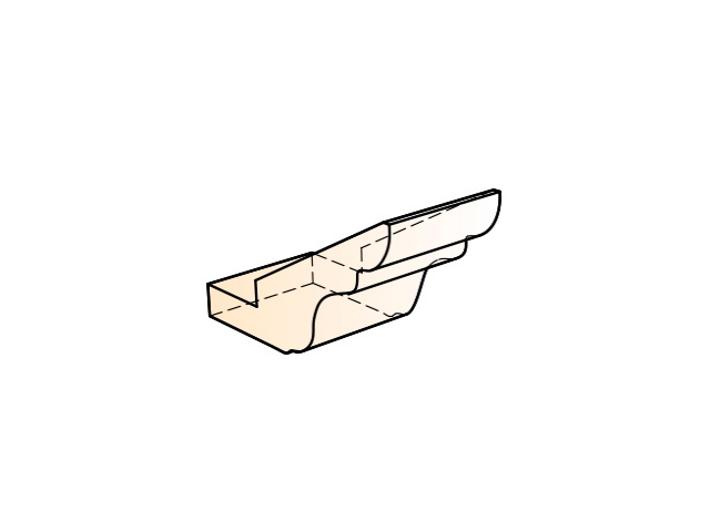 Элемент карниза стыковочный прямой