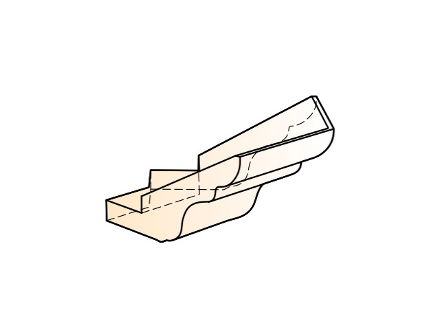 Элемент карниза угловой наружный (135 град.)