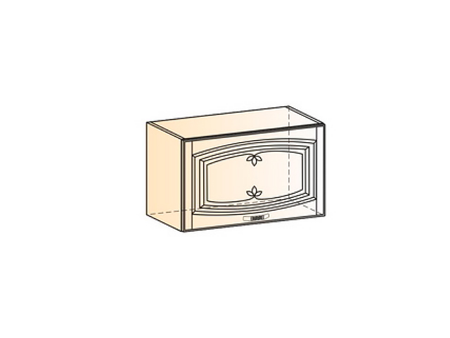 Шкаф навесной L600 H360 (1 дв. гл.)