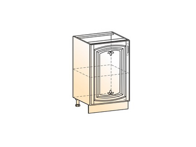 Шкаф рабочий L500 (1 дв. гл.)