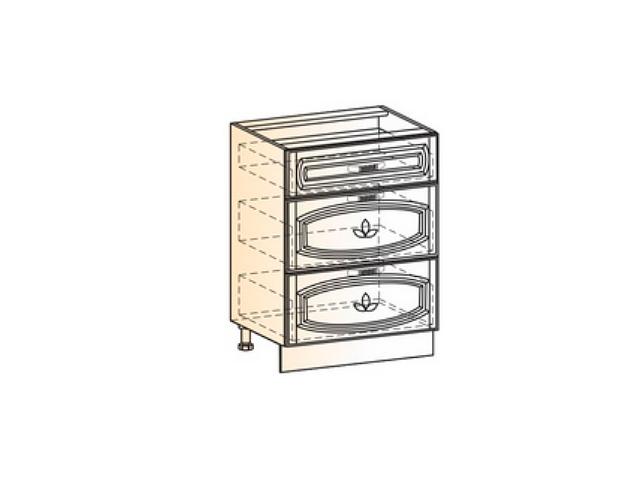 Шкаф рабочий L600 (3 ящ.) (эмаль)