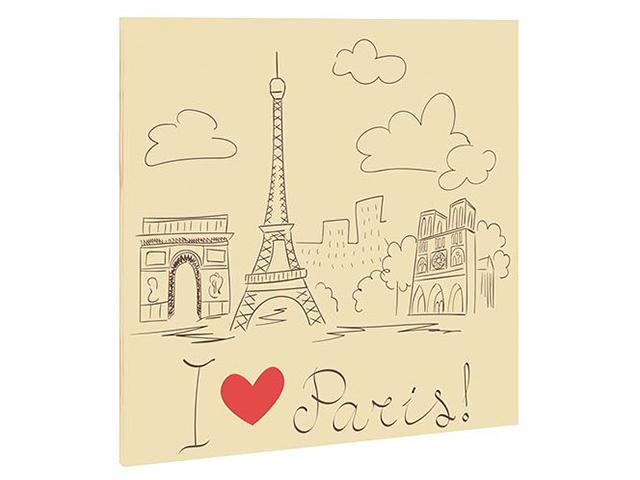 "Фасад с рисунком ""Париж"""
