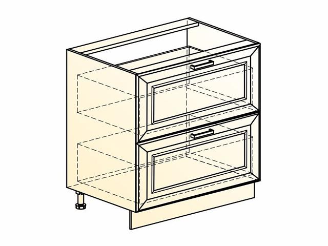Шкаф рабочий L800 (2 ящ.)