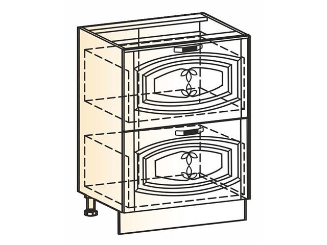 Шкаф рабочий L600 (2 ящ.)